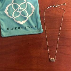 Dainty gold Kendra Scott necklace